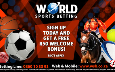 Sign up with World Sports Betting and get a free R50 Welcome bonus!